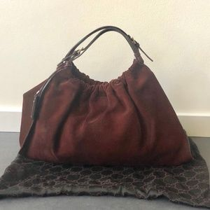 Gucci Chocolate Vintage Suede Bag